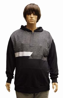 """Sweater met Capuchon  """" Maxfort """"  Zwart / grijs"""
