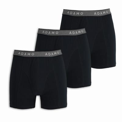 """Boxershort 3 stuks """" Adamo """"   Zwart"""