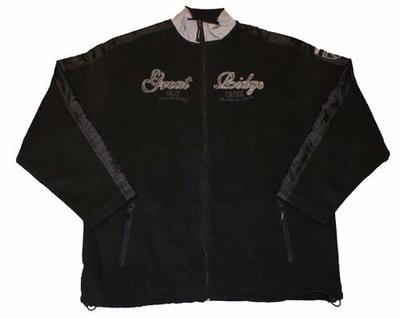 """Fleece vest  """" Great Bidge """"   Zwart"""