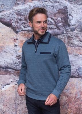 """Sweater met lange mouwen """" Meantime """" blauw / grijs"""