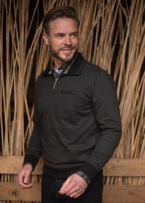 """Sweater met lange mouwen """" Meantime """" donker grijs"""