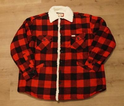"Gevoerde houthakkers blouse  ""  Rood / zwart """