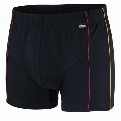 """Boxershort  """" Adamo Mike """"  Zwart met oranje / rood biesje"""