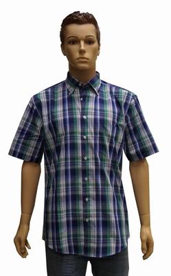 """Blouse met korte mouwen  """" Henderson """"  Geruit Blauw / groen"""