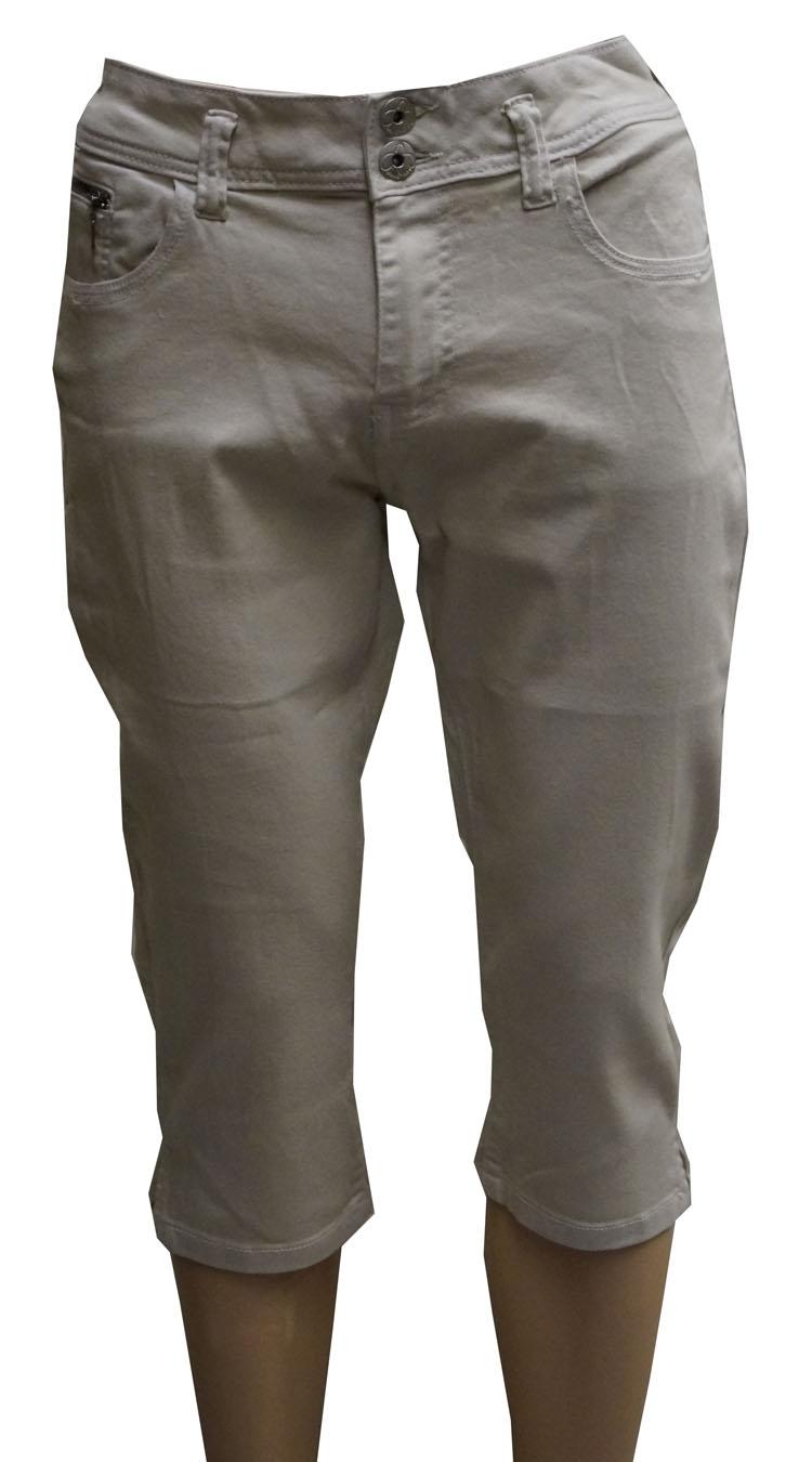 """3/4 dames stretch jeans  """" Brams Paris """"  Beige"""