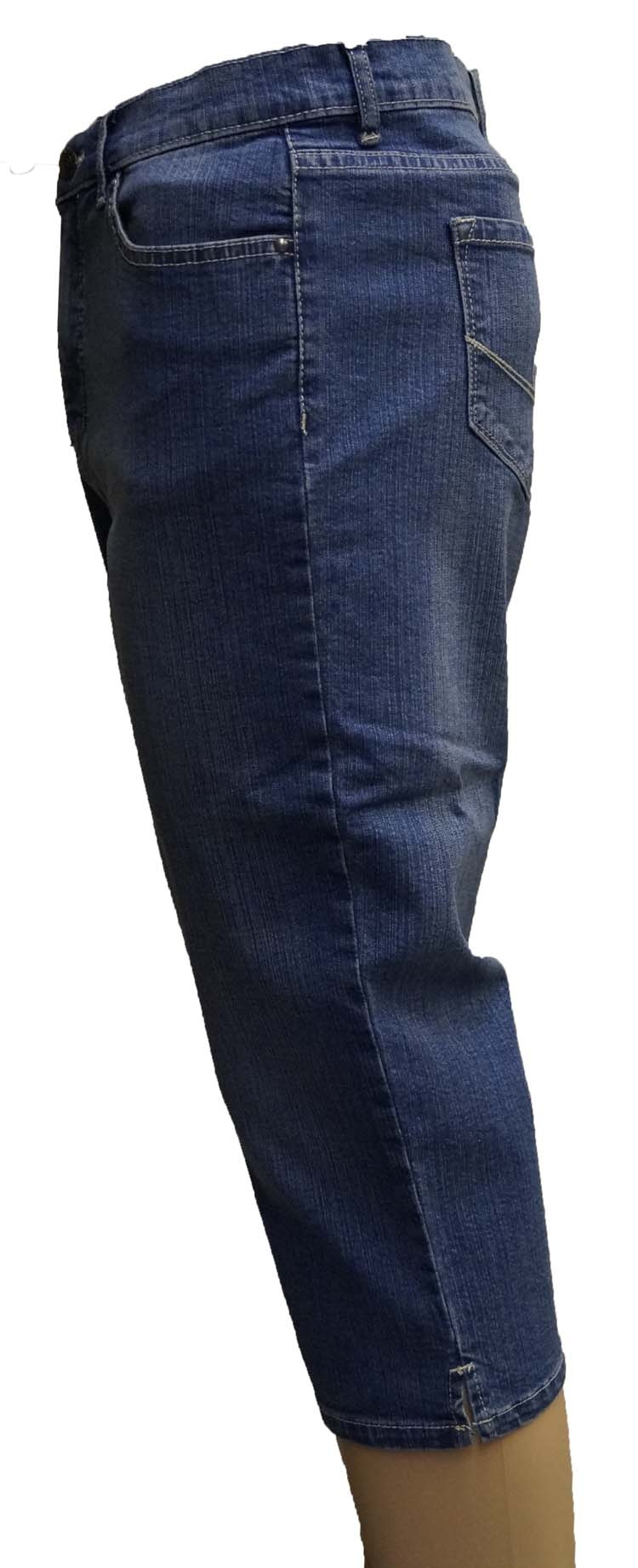 "7/8 dames stretch jeans  "" Paddocks ""  Midden blauw used"