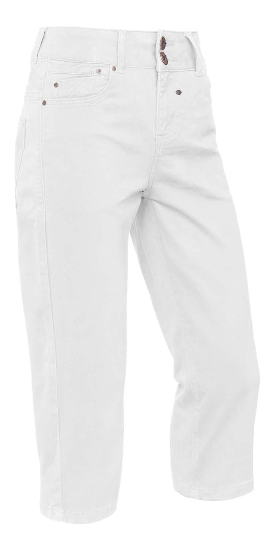 "Brams Paris stretch jeans  "" Capri ""   Wit"