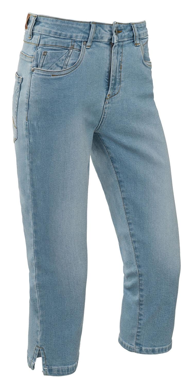 "Capri dames stretch jeans "" Brams Paris "" Licht blauw used"