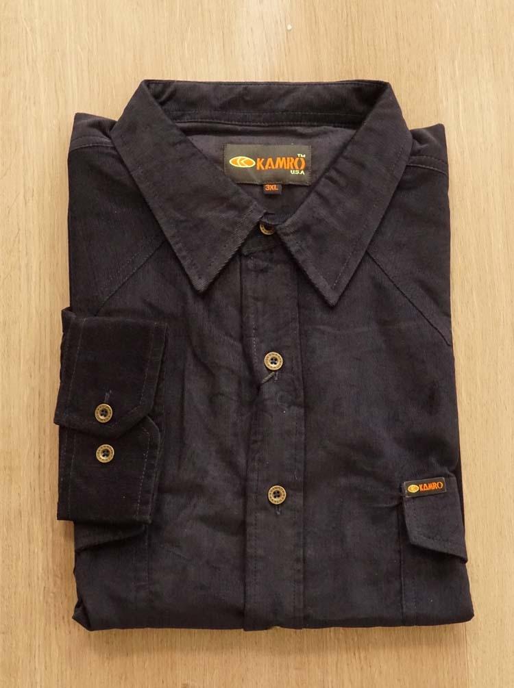 """corduroy blouse met lange mouwen  """" Kamro """" zwart"""