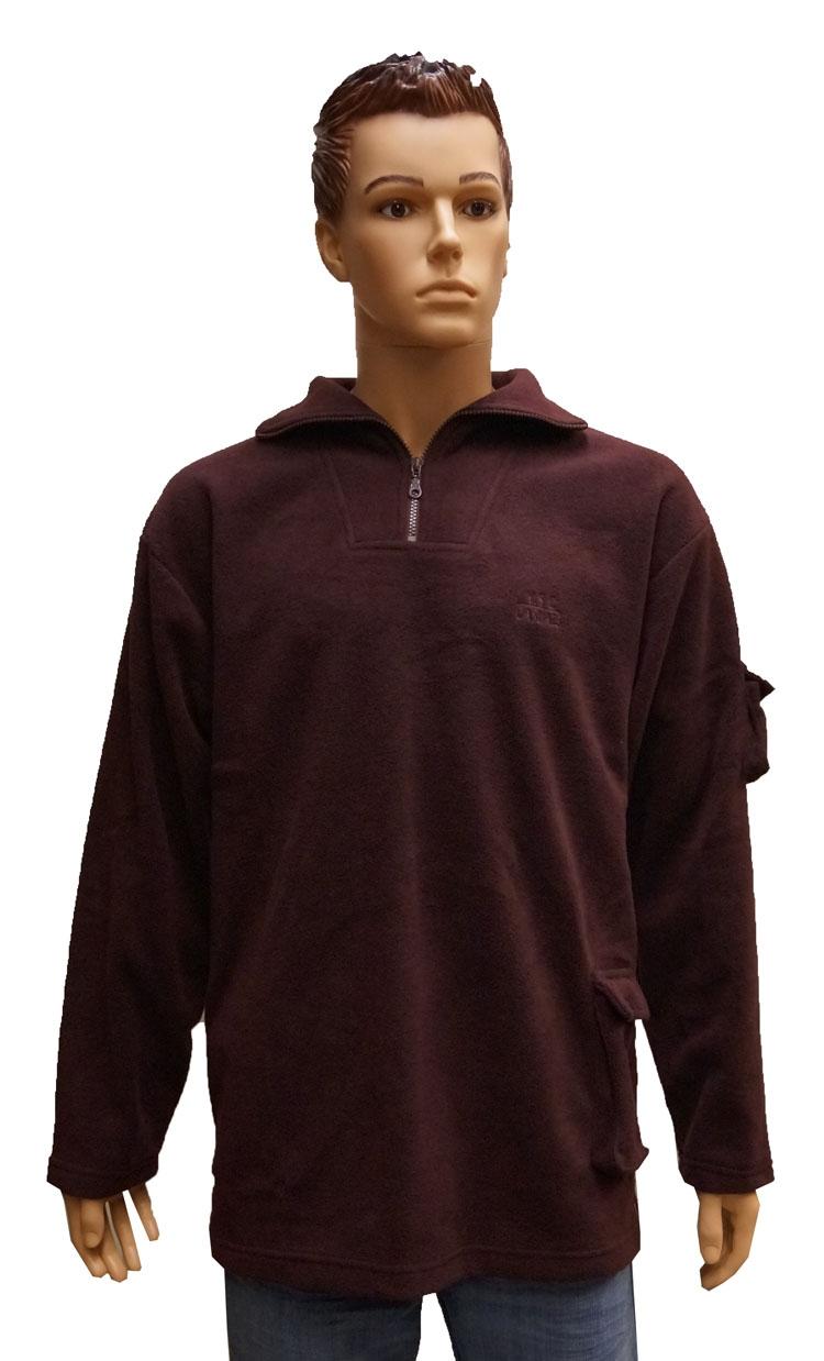 "Fleece trui  "" Bordeaux rood """