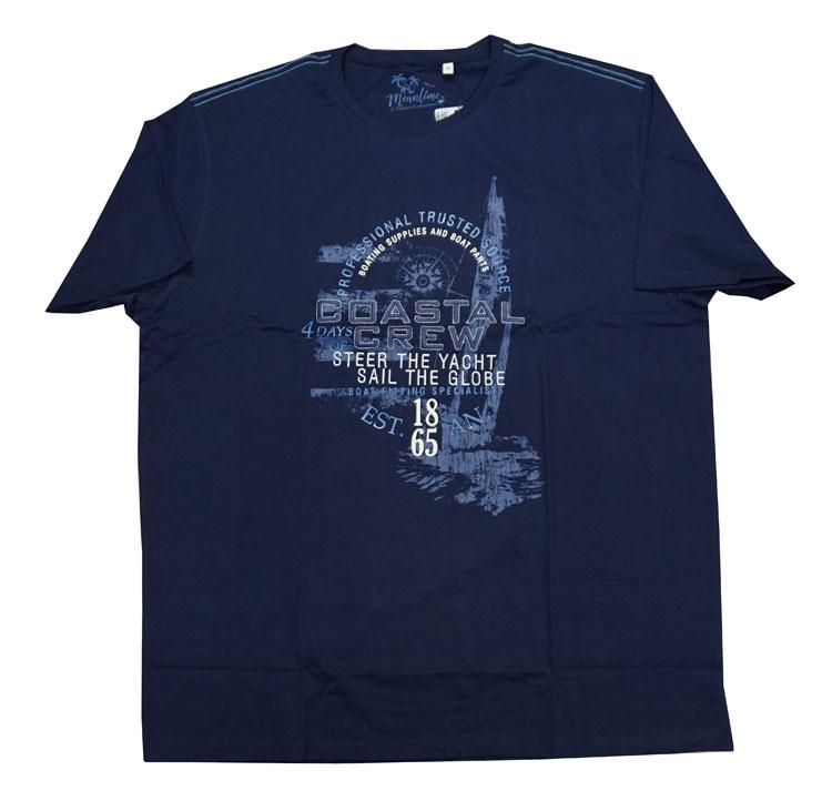 """Shirt met korte mouwen  """" Coastal crew """"  Donker blauw"""
