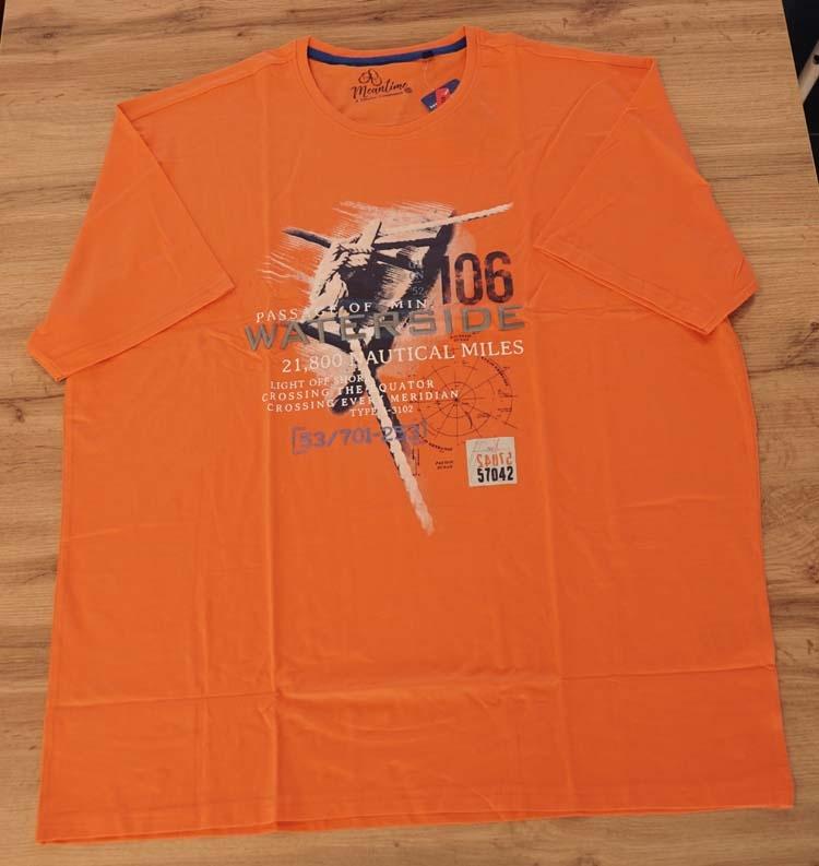 "Shirt met korte mouwen  "" Passage of min waterside "" Oranje"