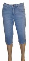 """3/4 dames stretch jeans  """" Paddocks """"  Licht blauw used"""