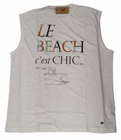 "Mouwloos shirt  "" Maxfort ""  Le Beach c'est chic   Wit"