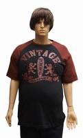 """T-shirt met korte mouwen  """" Maxfort """"  Vintage  Rood / zwart"""