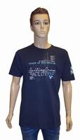 "Shirt met korte mouwen  "" Nautical ""  Donker blauw"