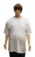 """T-shirt met korte mouwen  """" Grijs gemaillleerd """""""