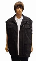 "Bodywarmer  "" Outdoor by Abraxas ""  Zwart"