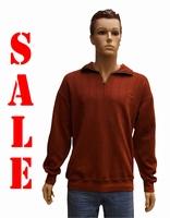 """Sweater met lange mouwen """"  Rood met beige biesje """""""