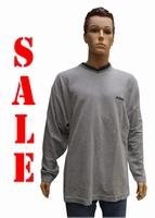 """Sweater met lange mouwen """" V-hals """"  Licht grijs"""