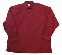 """Heren blouse met lange mouwen """" Arrivee """"  Bordeaux rood"""