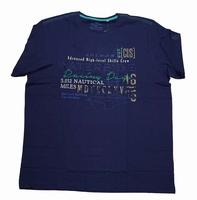 "Shirt met korte mouwen  "" Waterside ""  Donker blauw"