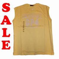 "Mouwloos T-shirt  "" GCM ""  Original GP4   Geel"