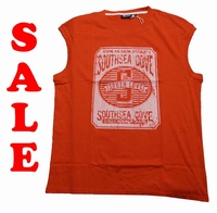 "Mouwloos T-shirt  "" GCM ""  South sea gove   Rood"