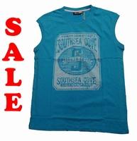 """Mouwloze T-shirt  """" GCM """"  South sea gove   Aqua"""