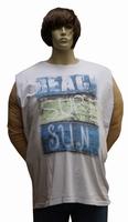 """Mouwloos T-shirt  """" Maxfort """"  Beach sure sun   Wit"""