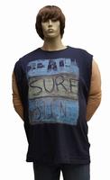 """Mouwloos T-shirt  """" Maxfort """"  Beach sure sun   Donker blauw"""
