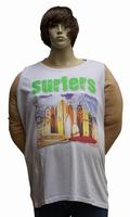 """Singlet T-shirt  """" Maxfort """"  Surfers   Wit"""