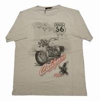 """T-shirt met korte mouwen  """" Route 66  """"   Beige"""