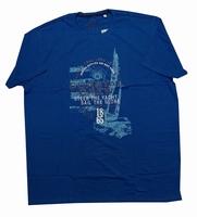 """Shirt met korte mouwen  """" Coastal crew """"  Kobalt"""