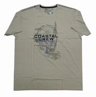 """Shirt met korte mouwen  """" Coastal crew """"  Beige"""