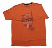 """Shirt met korte mouwen  """" Coastal crew """"  Rood"""