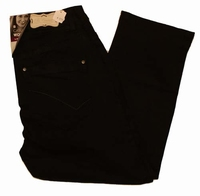 "Brams Paris stretch jeans  "" 7 / 8 ""  Black"