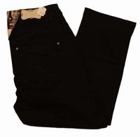 "Capri dames stretch jeans  "" Brams Paris ""  Zwart"