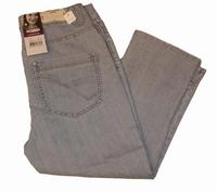 "Capri dames stretch jeans  "" Brams Paris ""  Licht blauw"