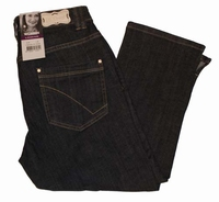 "Brams Paris stretch jeans  ""  7 / 8 ""  Ultra dark"