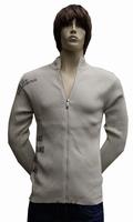"""Gebreide vest  """" Donadoni """"  Beige met print"""