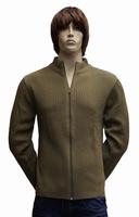 """Gebreide vest  """" Donadoni """"  Leger groen"""