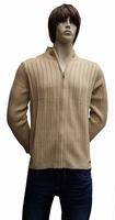 """Gebreide vest  """" Donadoni """"  Donker beige"""