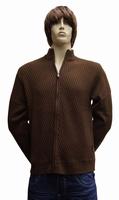 """Gebreide vest  """" Donadoni """"  Schuinen streep  Bruin"""