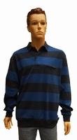 """Sweater met lange mouwen """" Gcm """" Gestreept   Blauw"""
