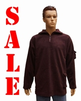 "Fleece trui  "" Bordeaux rood """