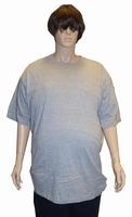 """Kamro T-shirt met korte mouwen  """" Extra lang """"  Licht grijs"""